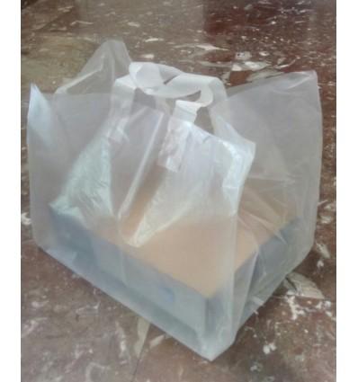 Bolsa de plástico asa plana
